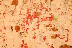 老墙壁 困厄的年迈的覆盖物纹理 自然背景的grunge 免版税库存照片