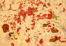 老墙壁 困厄的年迈的覆盖物纹理 自然背景的grunge 库存照片
