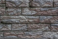 老墙壁 砖石工的模仿从人为石头的 库存照片