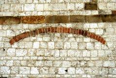 老墙壁-被毁坏的表面 免版税库存照片
