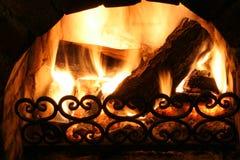 老壁炉 免版税库存照片