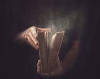 老多灰尘的书 免版税图库摄影