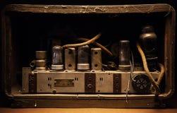 老多灰尘的电设备内部 图库摄影