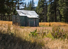 老大农场附属建筑,牧人风景 库存图片