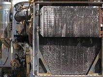 老大卡车引擎幅射器 库存照片