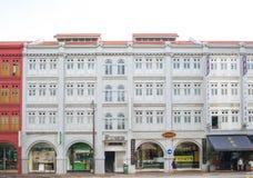 老大厦在中国镇在新加坡 图库摄影