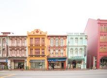 老大厦在中国镇在新加坡 免版税库存照片