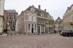 老大厦在乌得勒支,荷兰的历史的中心 免版税库存照片