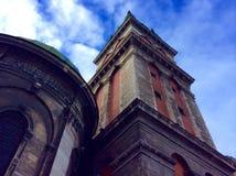 老大厦在利沃夫州的中心 免版税库存图片
