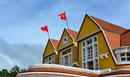 老大厦在大叻,越南 图库摄影
