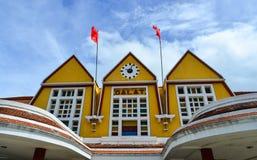 老大厦在大叻,越南 库存照片
