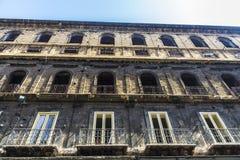 老大厦在巴勒莫,西西里岛,意大利 免版税图库摄影