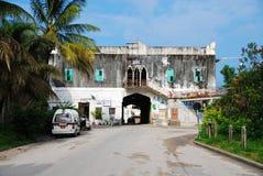 老大厦在桑给巴尔,东非 库存图片
