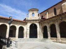 老大厦在梅迪纳德波马尔,西班牙 库存照片