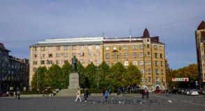 老大厦在维堡,俄罗斯 图库摄影