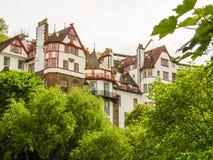 老大厦在老镇爱丁堡,苏格兰,英国 免版税库存照片