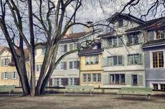 老大厦在苏黎世的市中心 库存图片
