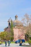 老大厦在巴塞罗那,西班牙 图库摄影