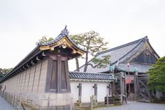 老大厦在Nijo城堡的Ninomaru宫殿在京都 免版税库存照片