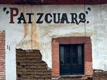 老大厦在Patzcuaro,墨西哥 免版税库存照片