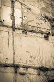 老大厦撤除的废墟 库存图片