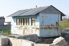 老大厦由生锈的铁制成 免版税库存图片