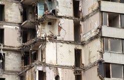 老大厦的爆破 免版税图库摄影