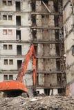 老大厦的爆破 图库摄影