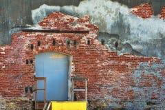 老大厦的装货场边 库存图片