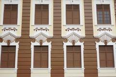 老大厦的细节在Melaka,马来西亚 免版税图库摄影