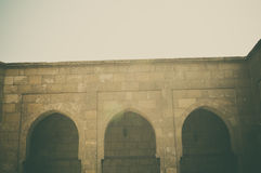 老大厦看法在开罗城堡的在埃及 图库摄影