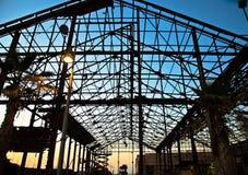 老大厦蓝天日落在贾法角 免版税库存图片