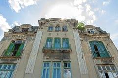 老大厦门面在历史上城市Tomis 免版税库存照片