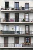 老大厦门面在巴塞罗那,西班牙 免版税库存照片