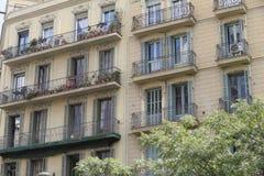 老大厦门面在巴塞罗那,西班牙 库存图片