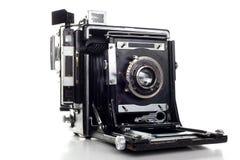 老大型格式化新闻照相机 库存图片