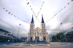 老大教堂在庄他武里 库存图片