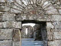 老大教堂, Glendalough的废墟 免版税图库摄影