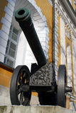 老大炮在莫斯科克里姆林宫 彩色照片 免版税库存图片