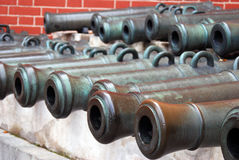 老大炮在莫斯科克里姆林宫 彩色照片 免版税库存照片