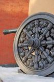 老大炮在莫斯科克里姆林宫 彩色照片 免版税图库摄影