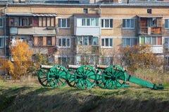 老大炮在Kyiv堡垒,俄国设防复合体  库存图片