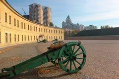 老大炮在Kyiv堡垒,设防复合体在基辅 免版税图库摄影
