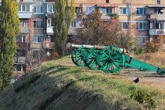 老大炮在Kyiv堡垒 免版税库存图片