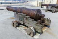 老大炮防御里瓦德奥在卢戈,西班牙 图库摄影