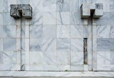 老大理石墙壁 免版税库存照片