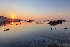 老大理石猎物在Aliki 希腊海岛thassos 免版税库存图片