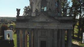 老天主教、石雕象和冒号的门面 股票视频