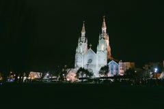 老天主教在晚上SF 免版税库存图片