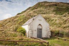 老太平间在Saltburn,英国 图库摄影